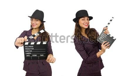 Femme gangster fusil vintage sexy modèle Photo stock © Elnur