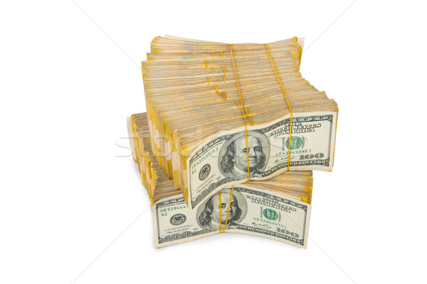 Stack of dollars in business concept isolated on white Stock photo © Elnur
