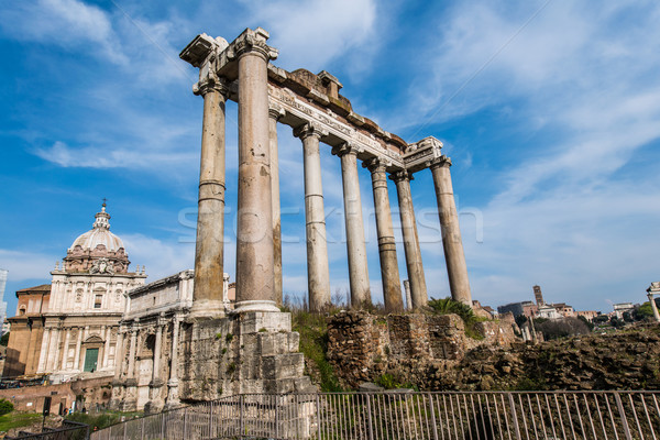 Ruins in ancient Roma on summer day Stock photo © Elnur