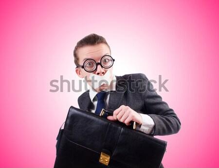 деловая женщина динамит белый девушки фон бизнесмен Сток-фото © Elnur