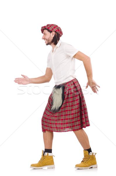 Scotsman greeting somebody isolated on white Stock photo © Elnur