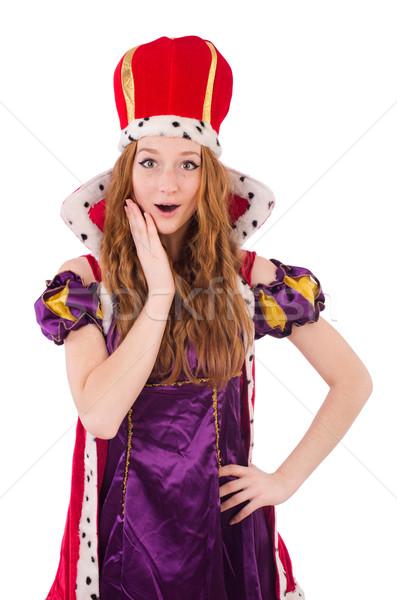 Bella giovani regina viola abito isolato Foto d'archivio © Elnur