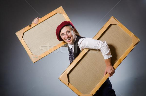 смешные художник рабочих студию работу студент Сток-фото © Elnur
