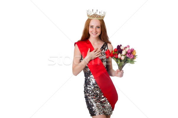 Beauty contest winner isolated on white Stock photo © Elnur