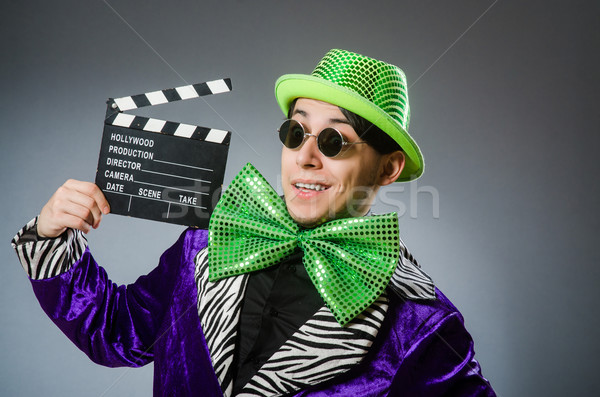 Funny man with movie clapboard Stock photo © Elnur