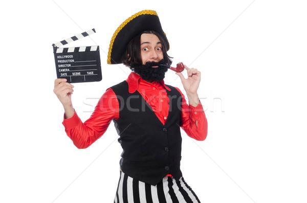 Funny Piraten isoliert weiß Party Film Stock foto © Elnur