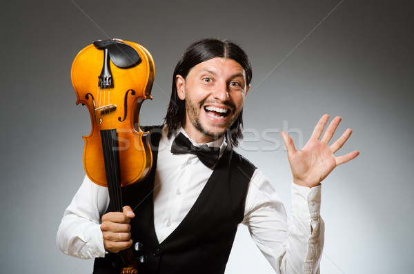 Man playing violin in musical concept Stock photo © Elnur