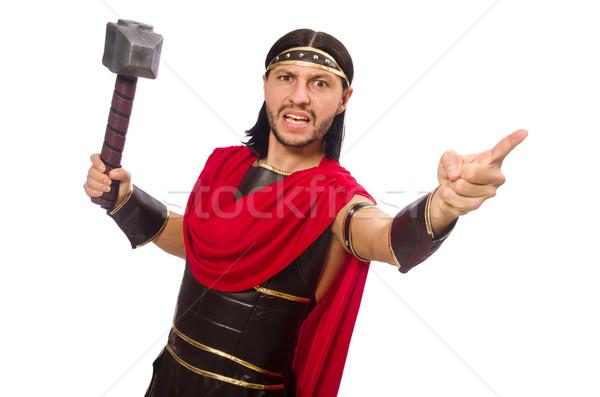 Gladiador martelo isolado branco homem fundo Foto stock © Elnur