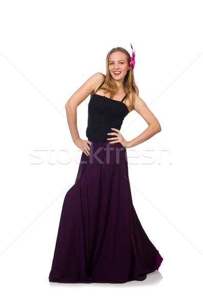 女性 紫色 ドレス 孤立した 白 少女 ストックフォト © Elnur
