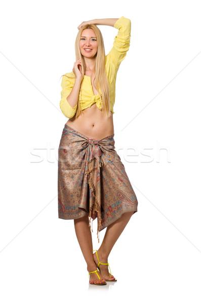 кавказский модель желтый блузка юбка Сток-фото © Elnur