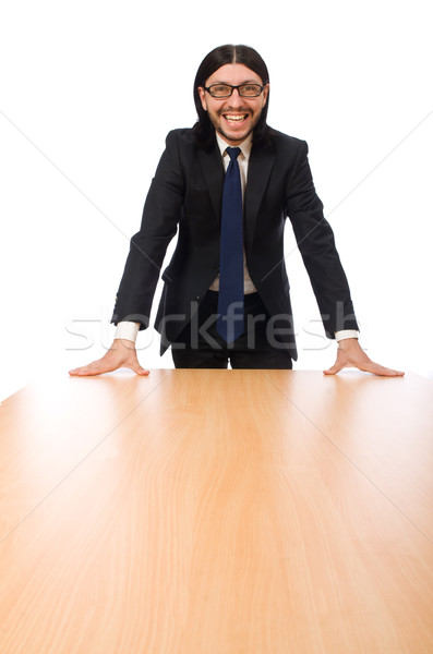 Young businessman isolated on white Stock photo © Elnur