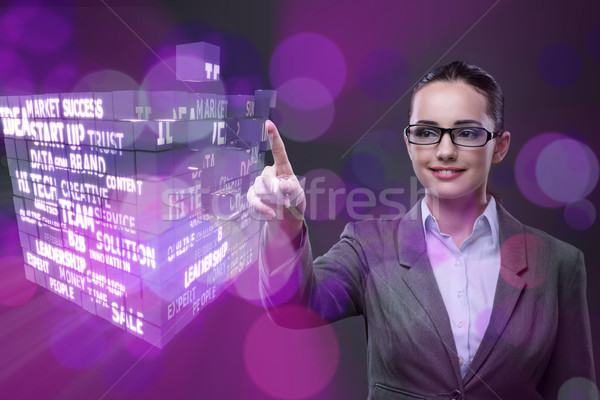 Businesswoman in ponzi scheme concept Stock photo © Elnur