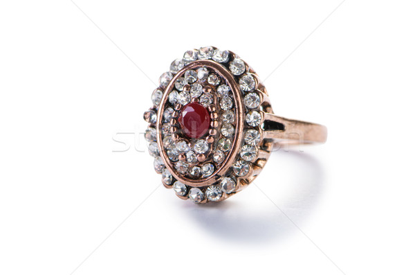 Jewellery ring isolated on the white Stock photo © Elnur