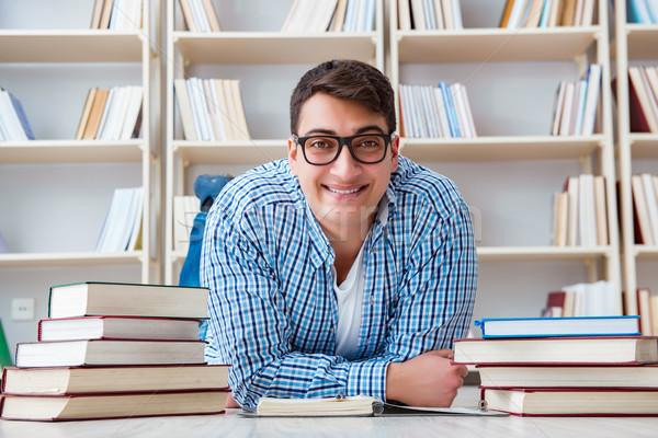 молодые студент изучения книгах книга человека Сток-фото © Elnur