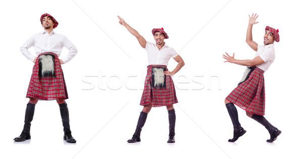 Traditionen Person tragen Tanz Spaß Kleidung Stock foto © Elnur