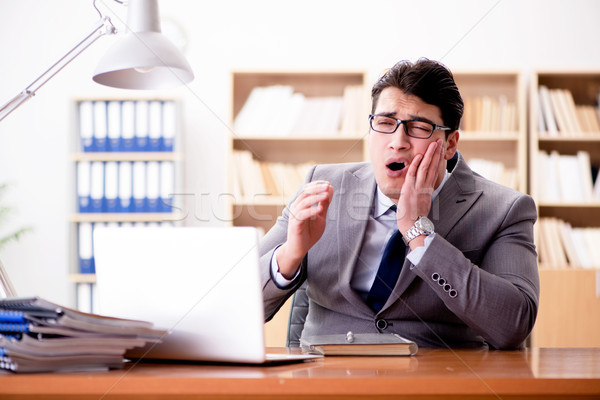 The sick businessman in the office Stock photo © Elnur