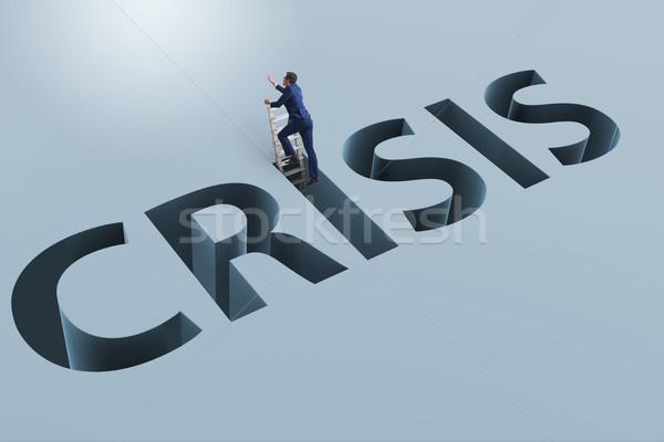 бизнесмен финансовый кризис бизнеса деньги работник Финансы Сток-фото © Elnur