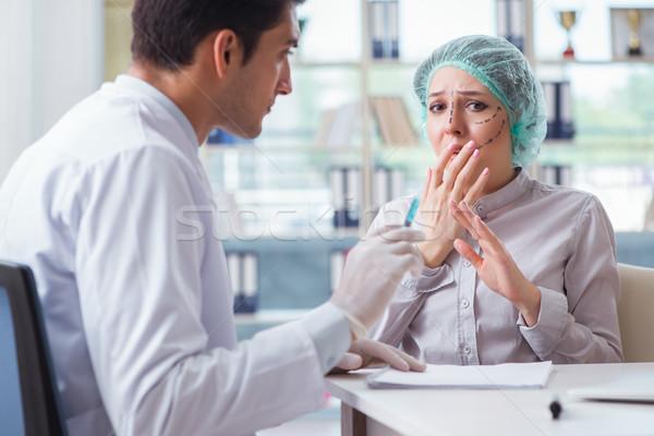 Plástico cirurgião operação cara da mulher mulher menina Foto stock © Elnur