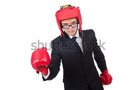 Freira luvas de boxe isolado branco mulher menina Foto stock © Elnur