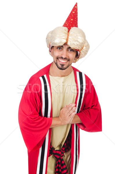 Wizard in costume isolated on the white Stock photo © Elnur
