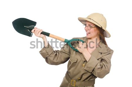 Cowgirl woman with gun isolated on white Stock photo © Elnur