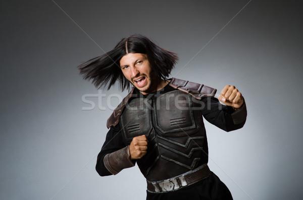Boos krijger donkere man pak leuk Stockfoto © Elnur