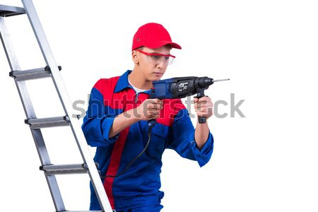 Man with a gun isolated on white Stock photo © Elnur