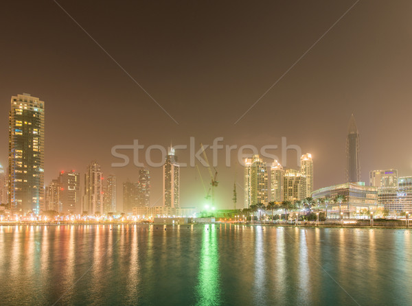 Dubai marina arranha-céus noite escritório edifício Foto stock © Elnur