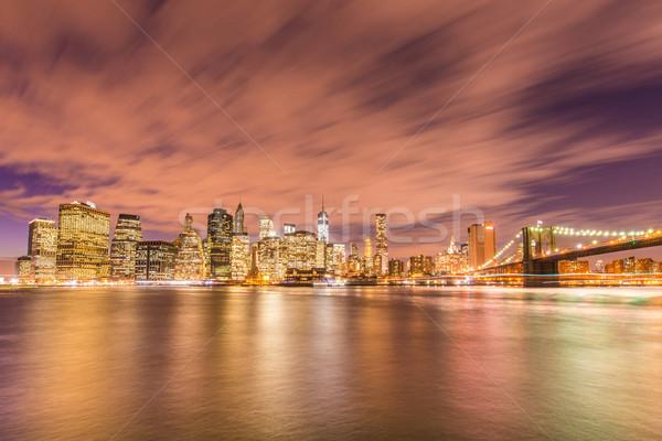Célèbre gratte-ciel New York nuit affaires ciel Photo stock © Elnur