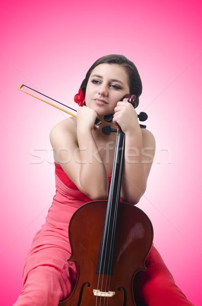 скрипки белый искусства концерта молодые Сток-фото © Elnur