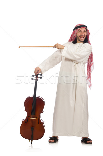 Arab man playing musical instrument Stock photo © Elnur