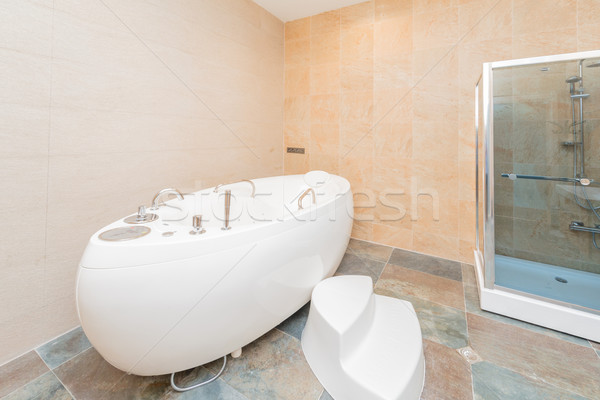 White bath in the bathroom Stock photo © Elnur