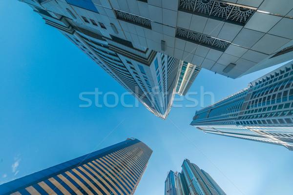 Alto Dubai marina arranha-céus água edifício Foto stock © Elnur