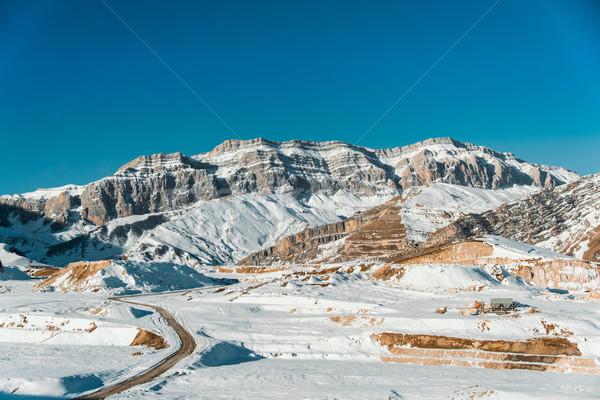 зима гор регион Азербайджан небе пейзаж Сток-фото © Elnur