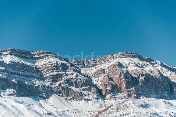 Inverno montanhas região Azerbaijão céu paisagem Foto stock © Elnur