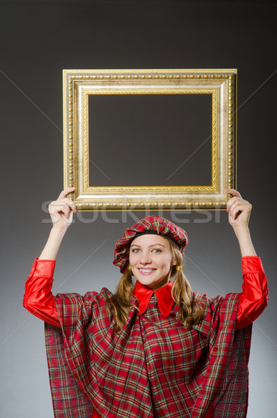 Woman in scottish clothing in art concept Stock photo © Elnur