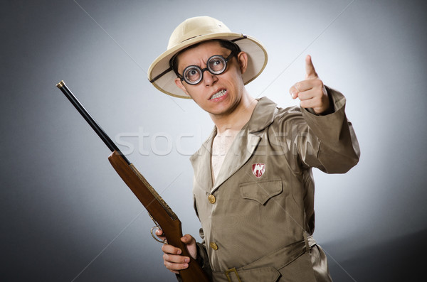 Funny hunter in hunting concept Stock photo © Elnur