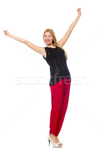 высокий красный брюки изолированный белый Сток-фото © Elnur