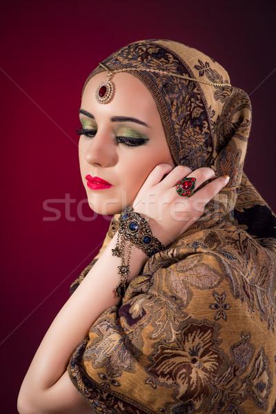 мусульманских женщину Nice ювелирных красоту золото Сток-фото © Elnur