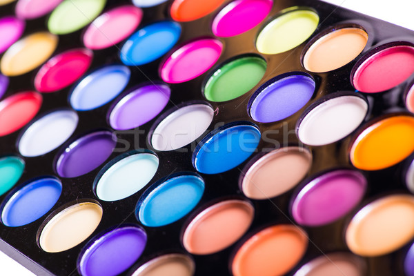Set of colourful shadow for make-up isolated on white Stock photo © Elnur