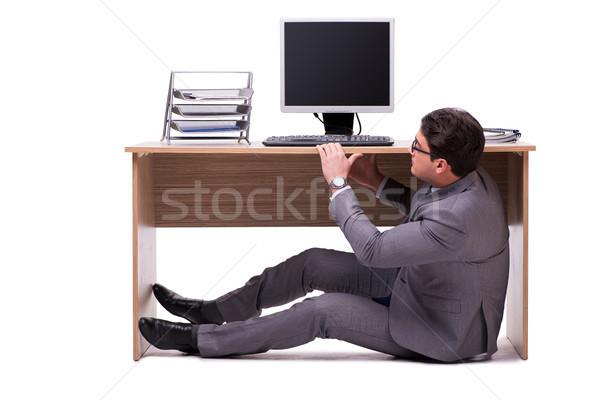 Zakenman verbergen man tabel triest baan Stockfoto © Elnur