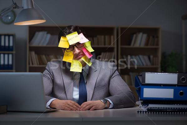 бизнесмен поздно из работу ноутбук рабочих Сток-фото © Elnur