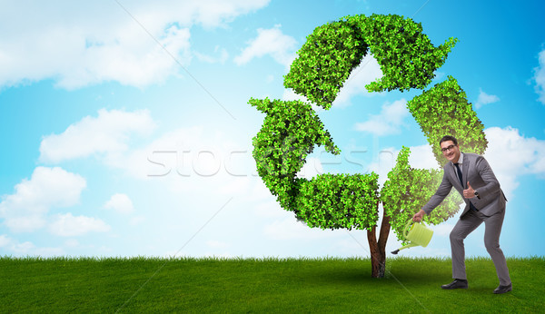 Businessman in recyling sustainable business concept Stock photo © Elnur