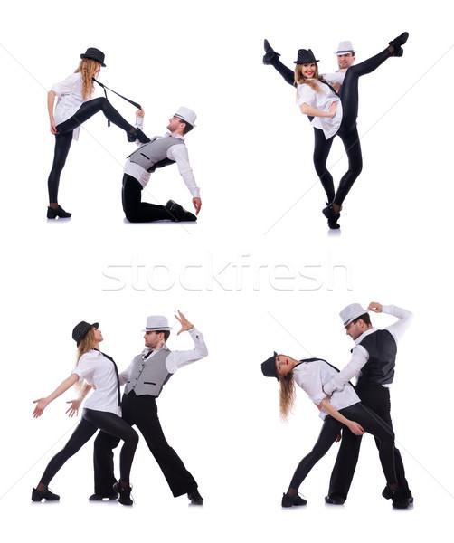 The pair of dancers dancing modern dances Stock photo © Elnur