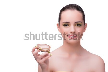 The young woman during make-up session isolated on white Stock photo © Elnur