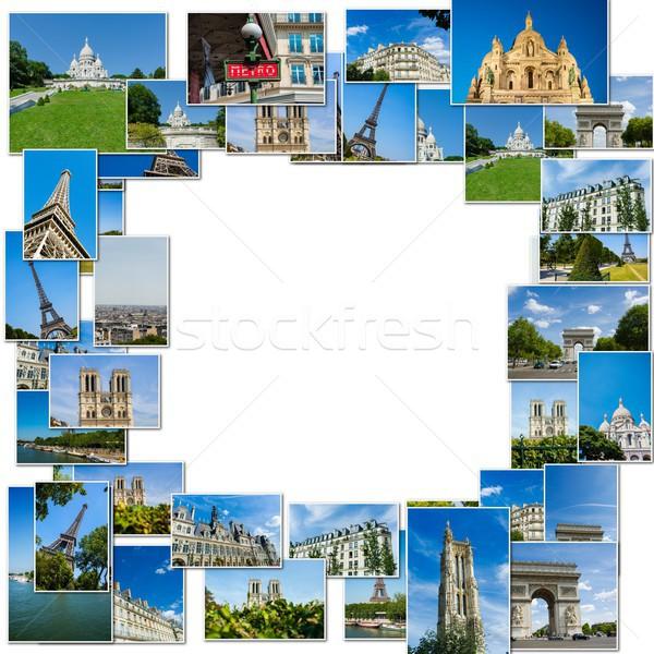 коллаж Париж фотографий коллекция здании пространстве Сток-фото © Elnur