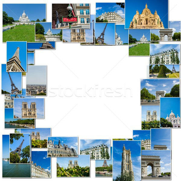 Collage of paris photos collection Stock photo © Elnur