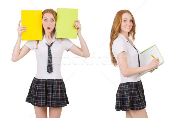 Jonge student vrouwelijke geïsoleerd witte Stockfoto © Elnur