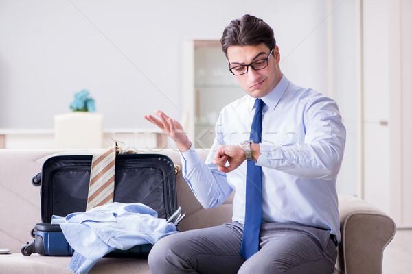 üzletember csomagol üzleti út üzlet férfi repülőtér Stock fotó © Elnur