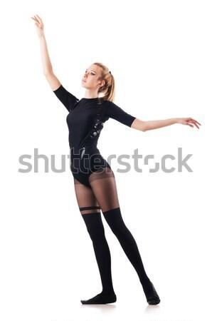 Fiatal nő tánc fehér nő divat modell Stock fotó © Elnur